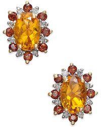 Macy's - Multi-gemstone (1-3/8 Ct. T.w.) & Diamond Accents Stud Earrings In 14k Gold - Lyst