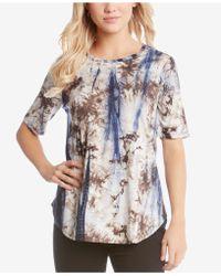Karen Kane - Tie-dyed T-shirt - Lyst