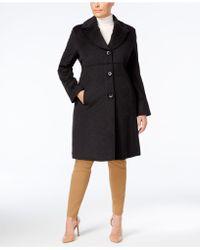 Jones New York - Plus Size Notched Shawl-collar Walker Coat - Lyst
