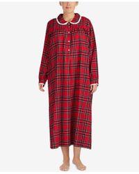 Lanz of Salzburg - Ballet Plus Size Lace-trim Cotton Nightgown - Lyst