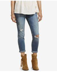 Jessica Simpson - Maternity Medium Wash Skinny Ankle Jeans - Lyst