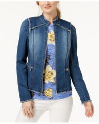 INC International Concepts | Lace-up-back Denim Jacket, Created For Macy's | Lyst