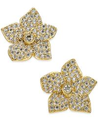 Kate Spade - Pavé Flower Stud Earrings - Lyst