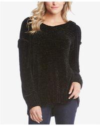 Karen Kane - Chenille Hooded Sweater - Lyst