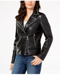 INC International Concepts - I.n.c. Studded Faux-leather Moto Jacket, Created For Macy's - Lyst