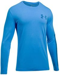 Under Armour   Men's Charged Cotton® Long-sleeve T-shirt   Lyst