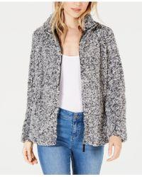 Style & Co. - Petite Fleece Sherpa Jacket, Created For Macy's - Lyst