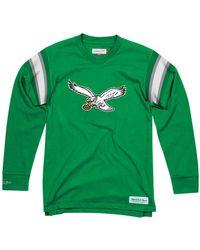 Mitchell   Ness - Philadelphia Eagles Team Captain V-neck Long Sleeve T- shirt 627a05660