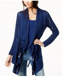 Love Scarlett - Petite Pointelle-knit Draped Cardigan, Created For Macy's - Lyst