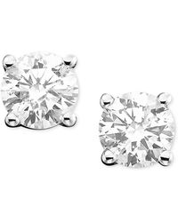 Macy's - Diamond Stud Earrings (1-1/4 Ct. T.w.) In 14k White Or Yellow Gold - Lyst
