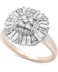 Wrapped in Love - Diamond Cluster Ring (3/4 Ct. T.w.) In 14k Gold - Lyst