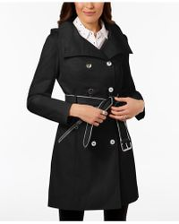 Guess | Zip-pocket Double-breasted Trench Coat | Lyst