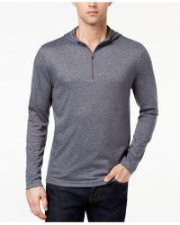 Alfani - Quarter-zip Stretch Hooded T-shirt, Created For Macy's - Lyst