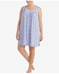 Eileen West - Plus Size Lace Ruffle-hem Knit Nightgown - Lyst