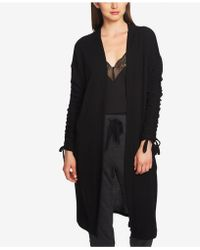 1.STATE - Ruched Duster Cardigan - Lyst