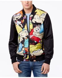 602fbe3f2 Members Only Nickelodeon Spongebob Bomber Jacket in Black for Men - Lyst