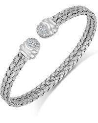 Macy's - Diamond Weave Cuff Bracelet In Sterling Silver (1/5 Ct. T.w.) - Lyst