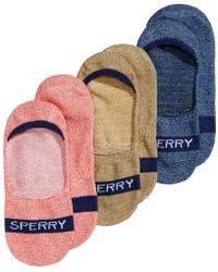 Sperry Top-Sider - Marled Invisible Solid Liner Socks 3-pack - Lyst
