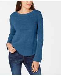 Style & Co. - Mixed-stitch Crew-neck Jumper, Created For Macy's - Lyst