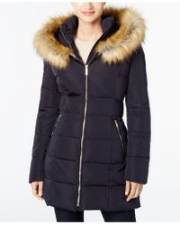 Ivanka Trump - Faux-fur Cinched-waist Puffer Coat - Lyst