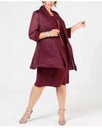 R & M Richards - Plus Size Shift Dress & Metallic Jacket - Lyst
