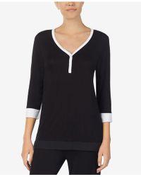 DKNY - Colorblocked Pajama Top - Lyst