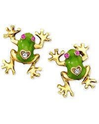Betsey Johnson - Frog Stud Earrings - Lyst