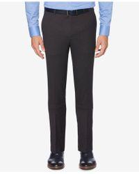 Perry Ellis - Slim-fit Performance Stretch Windowpane Plaid Dress Trousers - Lyst
