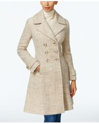 Ivanka Trump - Double-breasted Mélange Peacoat - Lyst