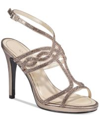 Caparros - Heather Embellished Strappy Evening Sandals - Lyst