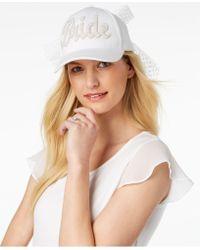 Betsey Johnson - Retro Bride Baseball Hat - Lyst