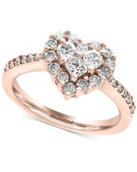 Effy Collection - Diamond Heart Ring (9/10 Ct. T.w.) In 14k Rose Gold - Lyst