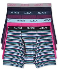 Alfani - Men's 4-pk. Cotton Boxer Briefs - Lyst