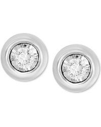 Effy Collection - Bubbles By Effy® Diamond Bezel Frame Stud Earrings (1/5 Ct. T.w.) - Lyst