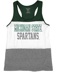 Blue 84 - Michigan State Spartans Racerback Panel Tank Top - Lyst
