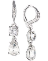 Givenchy - Crystal Double Drop Earrings - Lyst