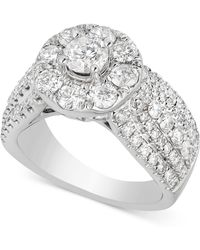 Macy's - Diamond Halo Engagement Ring (2-1/2 Ct. T.w.) In 14k White Gold - Lyst