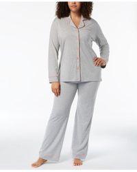 Cosabella - Bella Plus Size Contrast-trim Pyjama Set Amore9641p - Lyst