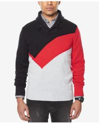 Sean John | Men's Colorblocked Shawl-collar Sweater | Lyst