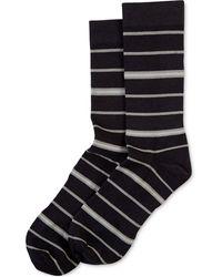 Hue - ® Power Compression Striped Crew Socks - Lyst