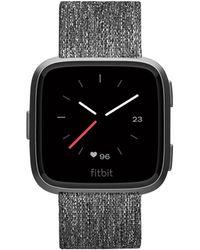 Fitbit - Versatm Charcoal Woven Band Touchscreen Smart Watch 39mm - Lyst