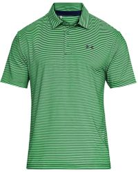 Under Armour - Playoff Performance Striped Golf Polo - Lyst