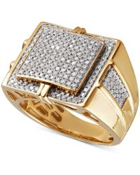 Macy's - Diamond Pavé Ring (1 Ct. T.w.) In 10k Gold - Lyst
