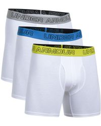 """ed377371c76d Under Armour Men's Charged Cotton® Stretch 3"""" Boxerjock® 3-pack in Blue for  Men - Lyst"""