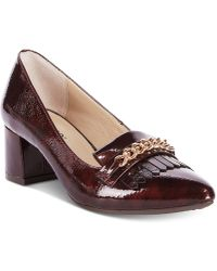 Rialto - Marshall Block-heel Dress Court Shoes - Lyst