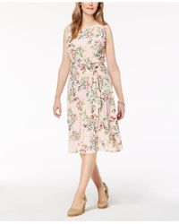 Charter Club | Printed Fit & Flare Dress, Created For Macy's | Lyst