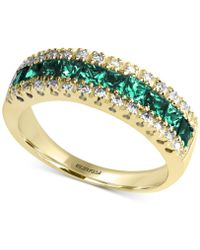 Effy Collection - Emerald (1-1/8 Ct. T.w.) And Diamond (1/8 Ct. T.w.) Ring In 14k Gold - Lyst