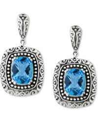 Effy Collection | Blue Topaz (5 Ct. T.w.) Drop Earrings In Sterling Silver | Lyst
