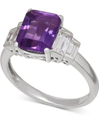 Macy's - Amethyst (2-1/6 Ct. T.w.) And White Topaz (1-1/2 Ct. T.w.) Ring In Sterling Silver - Lyst