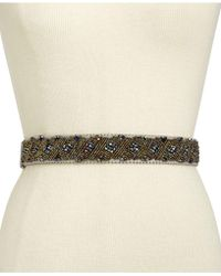 INC International Concepts   Clustered Beaded Stretch Belt   Lyst